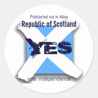 Unabhängiger Schottland-Aufkleber Runder Aufkleber