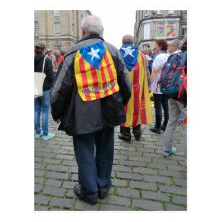 Unabhängigkeit für Katalonien-Aktivisten in Postkarte