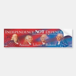 Unabhängigkeits-NICHT Abhängigkeits-Autoaufkleber Autoaufkleber