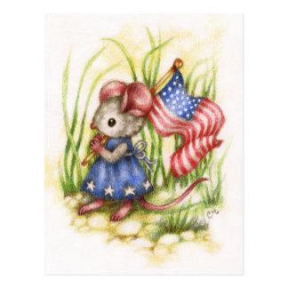 Unabhängigkeits-Tag - niedliche patriotische Postkarte