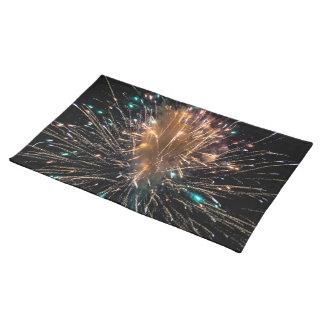 Unabhängigkeits-Tagesfeuerwerk-Sternexplosion Tischset