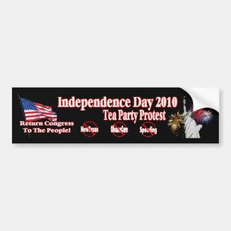 Unabhängigkeits-Tagestee-Party-Protest-neuer Autoaufkleber