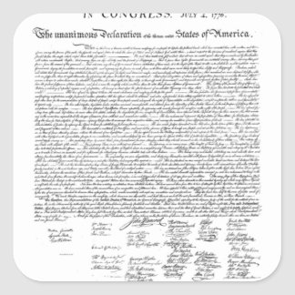 Unabhängigkeitserklärung Quadratischer Aufkleber