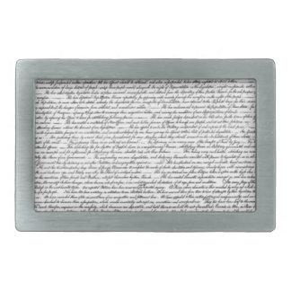 Unabhängigkeitserklärung Rechteckige Gürtelschnalle