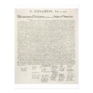 Unabhängigkeitserklärung zwei postkarte