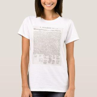 Unabhängigkeitserklärung zwei T-Shirt