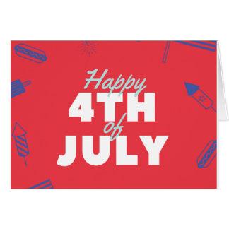 Unabhängigkeitstag am 4. Juli Karte
