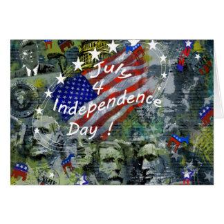 Unabhängigkeitstag, am 4. Juli kundenspezifische Karte
