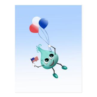 Unabhängigkeitstag-Blick mit Ballonen Postkarte