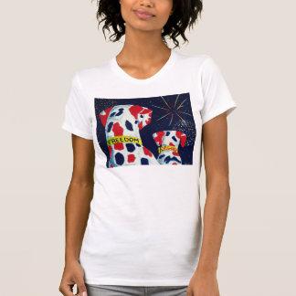 Unabhängigkeitstag-Freiheits-u. Freiheits-Dalmatin T-Shirts