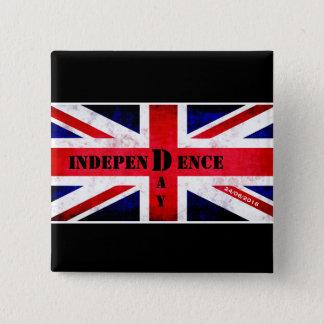 Unabhängigkeitstag für Vereinigtes Königreich Quadratischer Button 5,1 Cm