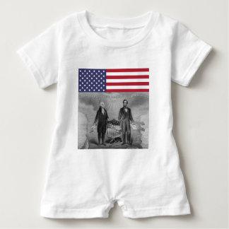 Unabhängigkeitstag George Washington Abraham Baby Strampler