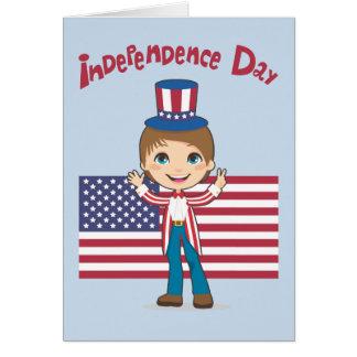 Unabhängigkeitstag Karte