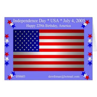 Unabhängigkeitstag (Karte) Karte