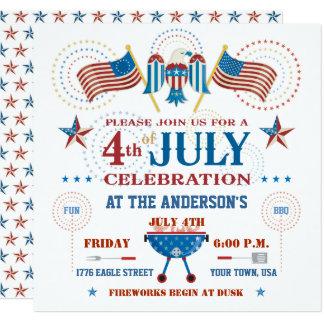 Unabhängigkeitstag-Party Einladung
