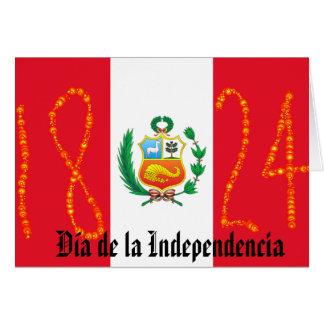 Unabhängigkeitstag Peru Karte