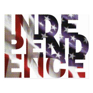 Unabhängigkeitstag Postkarte