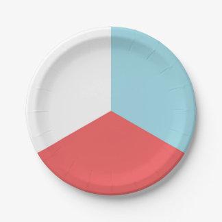 Unabhängigkeitstag-rote weiße blaue Papierplatte Pappteller
