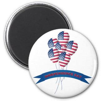 Unabhängigkeitstag steigt Magneten im Ballon auf Runder Magnet 5,7 Cm