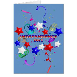 Unabhängigkeitstag-Sterne und Karte