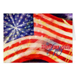 Unabhängigkeitstag u. am 4. Juli Karte