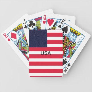 Unabhängigkeitstag-Unabhängigkeits-Tag USA Bicycle Spielkarten
