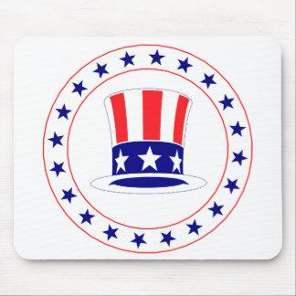 Unabhängigkeitstag-Uncle Sam Hut Mousepad