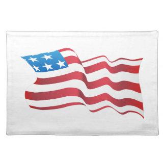 Unabhängigkeitstag USA-Flagge Stofftischset