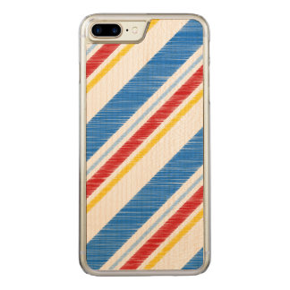 Unabhängigkeitstag-vibrierende rote und blaue carved iPhone 8 plus/7 plus hülle