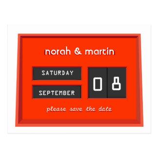 Unaufhörlicher Kalender-Save the Date Mitteilung Postkarte