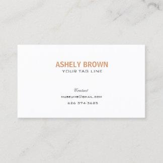 Unbedeutende berufliche Perlen-weiße Visitenkarte