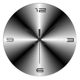Unbedeutende Edelstahl Look>Wall Uhr