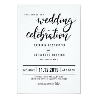 Unbedeutende einfache Hochzeits-Feier-Typografie Karte