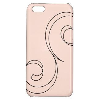 Unbedeutende korallenrote Rolle Hüllen Für iPhone 5C