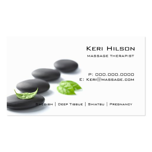 Unbedeutende Massage-Therapeut-Visitenkarte
