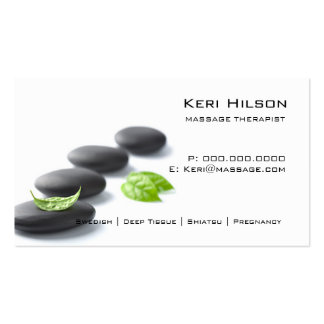 Unbedeutende Massage-Therapeut-Visitenkarte Visitenkarten