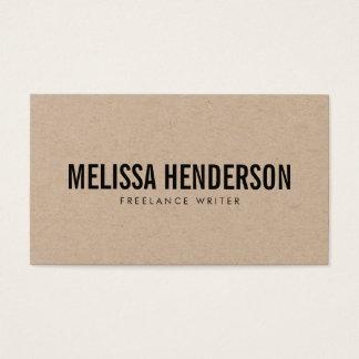 Unbedeutende mutige Typografie wirkliches Visitenkarte