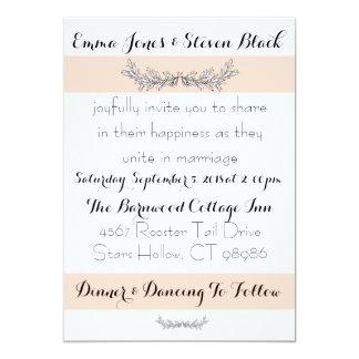 Unbedeutende neutrale Hochzeits-Einladungs-Reihe Karte