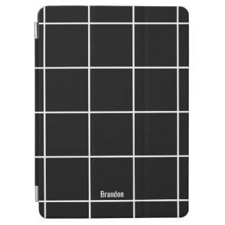 Unbedeutende schwarze u. weiße individueller Name iPad Air Cover