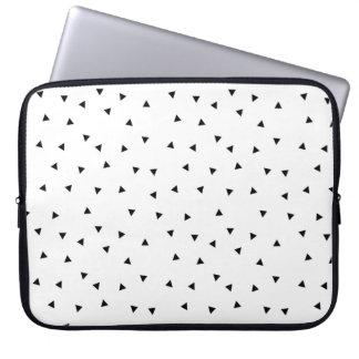 Unbedeutende schwarze u. weiße Muster-Laptop-Hülse Laptop Sleeve