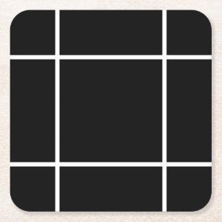 Unbedeutende schwarze u. weiße Muster-Untersetzer Rechteckiger Pappuntersetzer