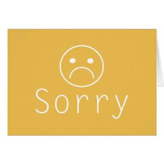 Unbedeutende traurige Entschuldigungs-Gruß-Karte Grußkarte