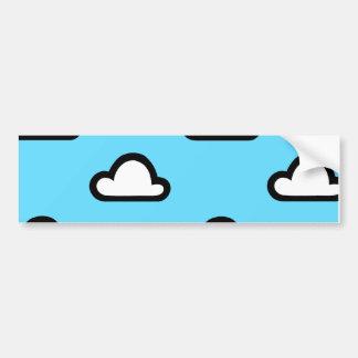 Unbedeutende Wolken Autoaufkleber