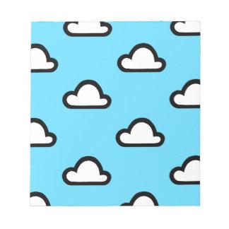 Unbedeutende Wolken Notizblock