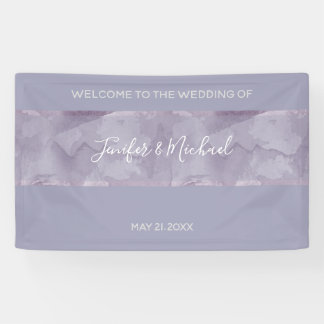 Unbedeutender moderner Lavendel-Aquarellstreifen Banner