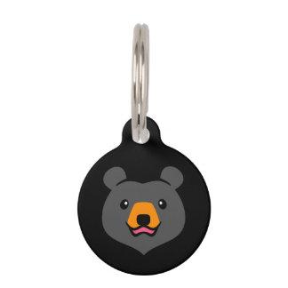 Unbedeutender niedlicher schwarzer Bärn-Cartoon Tiernamensmarke