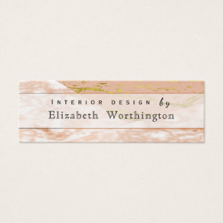 Unbedeutender rosa weiblicher MarmorImitat-Stein Mini Visitenkarte