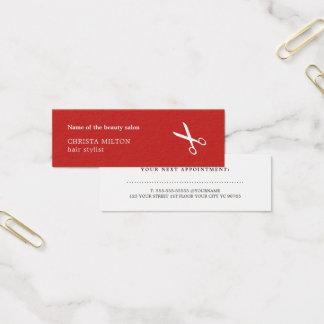 Unbedeutender roter und weißer mini visitenkarte