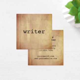 Unbedeutender rustikaler Papierverfasser-Autor Quadratische Visitenkarte