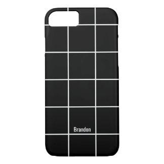 Unbedeutender schwarzer u. weißer individueller iPhone 8/7 hülle